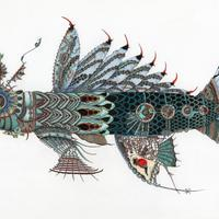 Japanese themed steampunk fish, a hopeful entry for the 2021 RA Summer Exhibition