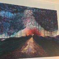 Down The Lane  Acrylic painting