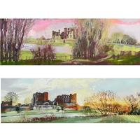 """""""A Flood of Colour"""" and """"A New Day""""  (sold) 200 x 600cms oil paintings. prints available £150"""