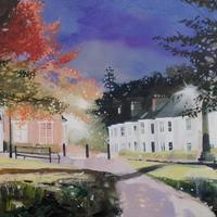 """""""Abbey Hill Lights""""  Framed oil painting £285.  Framed print £150"""