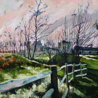 """""""Ford View""""  Framed oil painting £255.  Prints £150"""