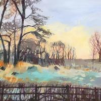 """Evening Frost"". Framed oil painting £285   Framed print £150"