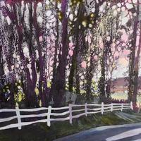 """""""Castle Green Pinks""""  Framed oil painting £285  Framed Prints £150."""