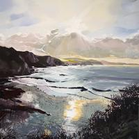 """January Sands""  Framed oil painting 40 x 40cms. £410"