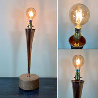Beautifully Simple Discarded Vintage Hunting Horn Table Light (Circa £85.00)