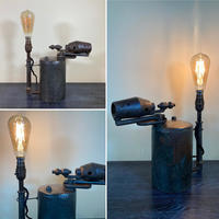 A Once Unloved Bashed & Broken Vintage French Iron Blow Torch Table Light (Circa £85.00)