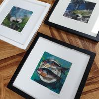 Selection of framed prints. 25 x 25cm. £30 each. plus p and p