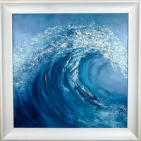 Abstract wave oil painting