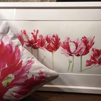 Shugborough Tulips - limited edition prints and cushion