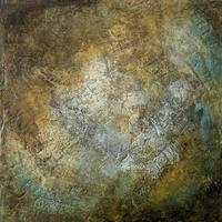 """""""Where Once They Walked"""" Cold Wax Medium and Oil. Geology. Landscape. Abstract."""