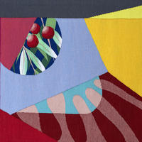 'Ripple & Ribes' hand woven tapestry