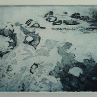 """'Lost in the moment.' Sugar lift etching. 12"""" x 10"""" mounted."""