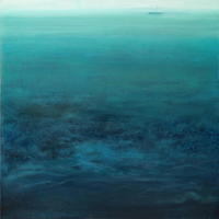 'Untethered thoughts.' Oil on canvas. 75 x 75 cm,