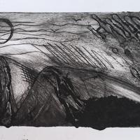 'Hills' etching