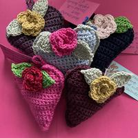Crochet hears scented with English lavender