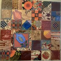Mosaic panel inspired by Spanish tiles