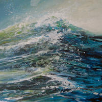 Crest Of A Wave 20cm x30cm acrylic on board