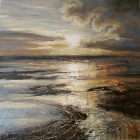 Gleaming Shores 60cm x60cm acrylic on canavs