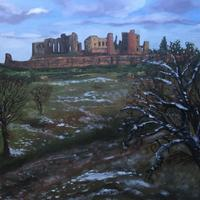 Kenilworth Castle in the snow