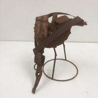 Cubist Wader - recycled steel