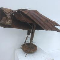 Red Kite - recycled steel