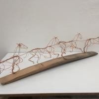 Galloping horse sequence - reclaimed copper wire