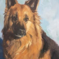 "Beautiful Belle (commisison) 12x16"" oil on canvas board"