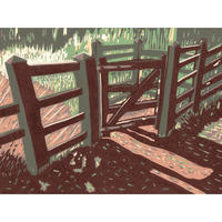 Kissing Gate Reduction Linoprint