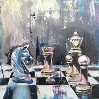 'Dark Knight' Oil on canvas panel 24 x 30cm
