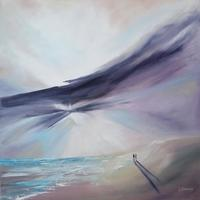 'The Clearing' Oil on 60cm square canvas