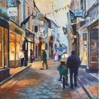 'Padstow Evening stroll' Acrylic on canvas