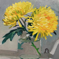 Yellow Blooms. Oil on Canvas. 25cm x 30cm