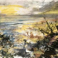 Silver afternoon, St Ives -  acrylic painting
