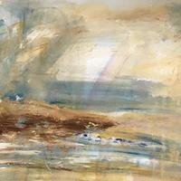 Sunshine and showers, St Ives  -  acrylic painting