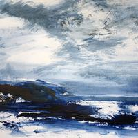 Winter sea, St Ives  -  acrylic painting