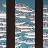 Holy mackerel triptych 30x70cm x 3 canvases