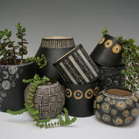 Selection of indoor pots and planters