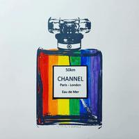 Channel Tunnel (Gay Pride Colours) A3 original hand pulled screen print.