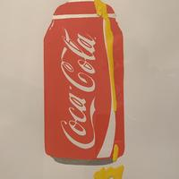 Coca Cola spray can. A3 in yellow. Limited edition 1/1.