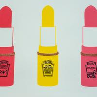 Lippy Sauce. A3 Screen print, hand pulled. Limited edition of 3.