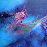 'Galactic Tide' inspired by life, the universe and everything! £345 (framed).