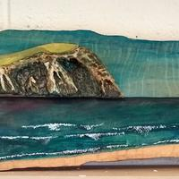 Pembrokeshire Coast (Dinas Head). Mixed Media.  H30cm, W74cm £525 Collect only