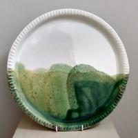 Cotswold Edge Platter.  View from the studio window D34cm  £85 plus p&p