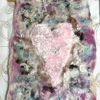 Heart Wall Hanging with Embroidery Penny Jane Designs