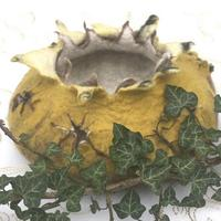 Felted Double Bowl, Mustard, Penny Jane Designs