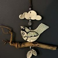 Twiggie Hanging. Glazed porcelain with recycled materials