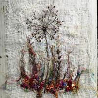Small is beautiful. Free-Motion and Hand embroidered Seed Heads.