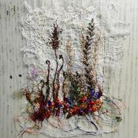Small is beautiful. Free-Motion and Hand Embroidered Seed Head.
