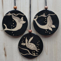 8cm pendants of sea creatures