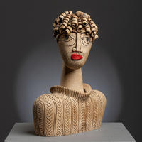 Aron - handbuilt ceramic stoneware sculpture (26cm high)